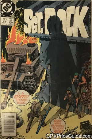 Sgt. Rock #398 95¢ Canadian Price Variant Comic Book Picture