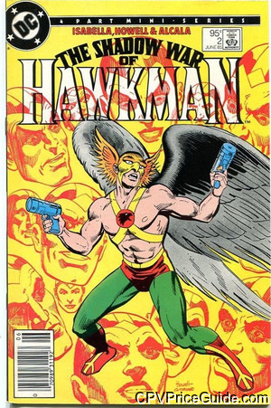 Shadow War of Hawkman #2 95¢ Canadian Price Variant Comic Book Picture