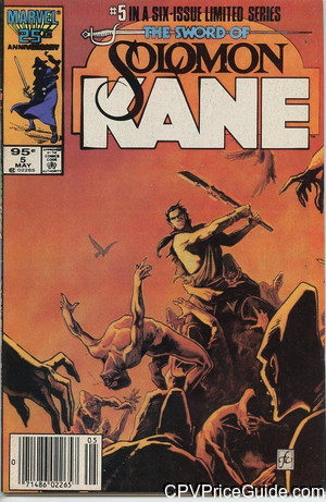Solomon Kane #5 95¢ Canadian Price Variant Comic Book Picture