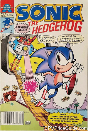 Sonic the Hedgehog Mini Series #0 $1.50 Canadian Price Variant Comic Book Picture