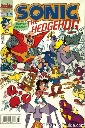 Sonic the Hedgehog #1 $1.50 Canadian Price Variant Comic Book Picture
