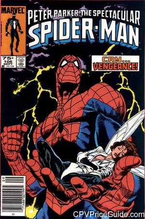 spectacular spider man 106 cpv canadian price variant image