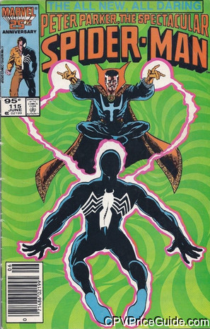 spectacular spider man 115 cpv canadian price variant image