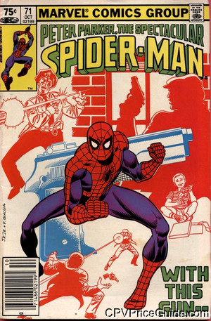 spectacular spider man 71 cpv canadian price variant image