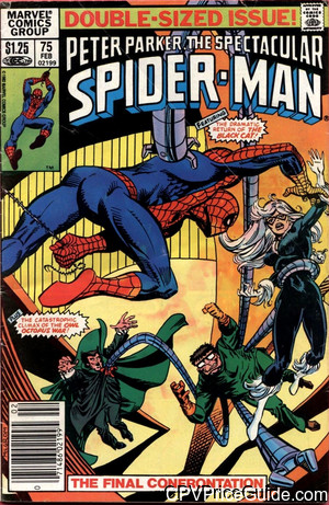 Spectacular Spider-Man #75 $1.25 Canadian Price Variant Comic Book Picture