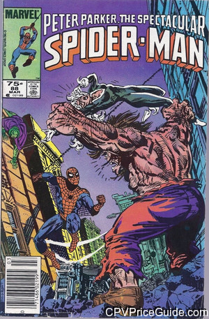 Spectacular Spider-Man #88 75¢ Canadian Price Variant Comic Book Picture