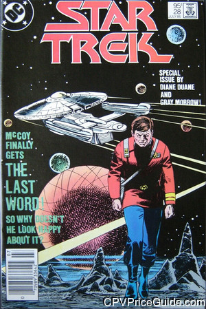 Star Trek #28 95¢ Canadian Price Variant Comic Book Picture