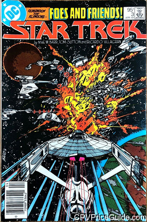 Star Trek #3 95¢ Canadian Price Variant Comic Book Picture