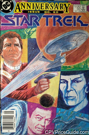 Star Trek #50 $2.00 Canadian Price Variant Comic Book Picture