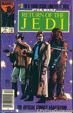 Star Wars Return of the Jedi #3 75¢ Canadian Price Variant Comic Book Picture