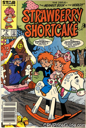 Strawberry Shortcake #6 75¢ Canadian Price Variant Comic Book Picture