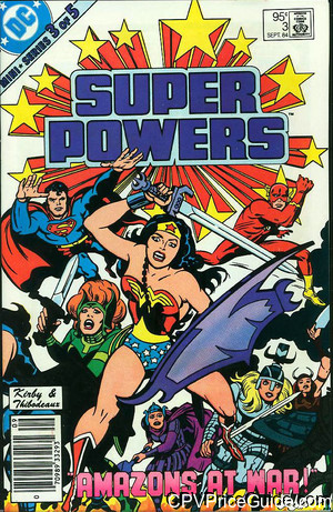 Super Powers Vol 1 #3 95¢ Canadian Price Variant Comic Book Picture