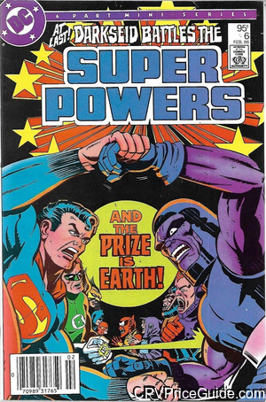 Super Powers Vol 2 #6 95¢ Canadian Price Variant Comic Book Picture