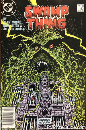 Swamp Thing #52 $1.00 Canadian Price Variant Comic Book Picture