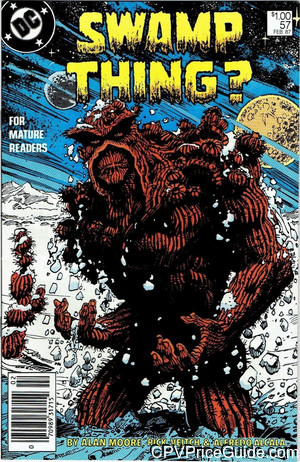 Swamp Thing #57 $1.00 Canadian Price Variant Comic Book Picture
