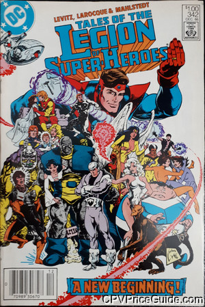 Tales of the Legion of Super-Heroes #342 $1.00 Canadian Price Variant Comic Book Picture