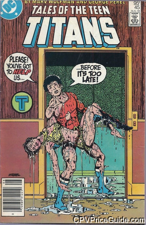 Tales of the Teen Titans #45 95¢ Canadian Price Variant Comic Book Picture