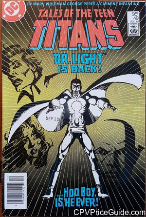 Tales of the Teen Titans #49 95¢ Canadian Price Variant Comic Book Picture
