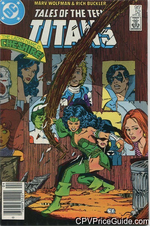 tales of the teen titans 52 cpv canadian price variant image