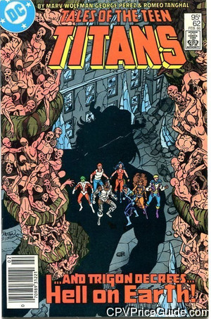 tales of the teen titans 62 cpv canadian price variant image