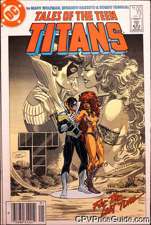 Tales of the Teen Titans #73 $1.00 Canadian Price Variant Comic Book Picture