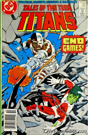 Tales of the Teen Titans #82 $1.00 Canadian Price Variant Comic Book Picture