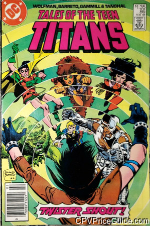 tales of the teen titans 86 cpv canadian price variant image