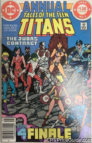 tales of the teen titans annual 3 cpv canadian price variant image