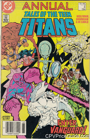 tales of the teen titans annual 4 cpv canadian price variant image