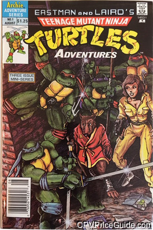 Teenage Mutant Ninja Turtles Adventures Mini Series #1 $1.25 Canadian Price Variant Comic Book Picture
