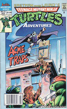 teenage mutant ninja turtles adventures 22 cpv canadian price variant image