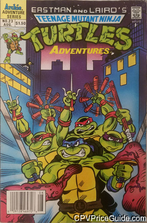 teenage mutant ninja turtles adventures 23 cpv canadian price variant image