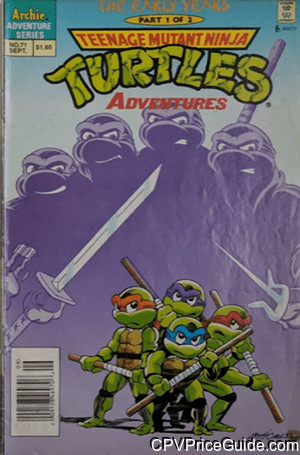 teenage mutant ninja turtles adventures 71 cpv canadian price variant image