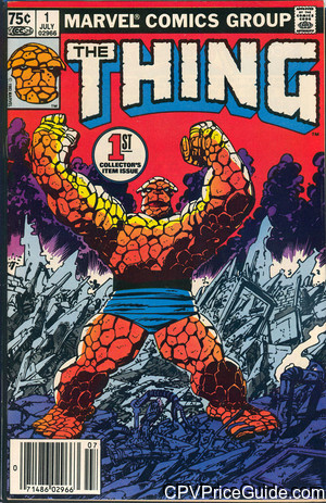 Thing #1 75¢ Canadian Price Variant Comic Book Picture