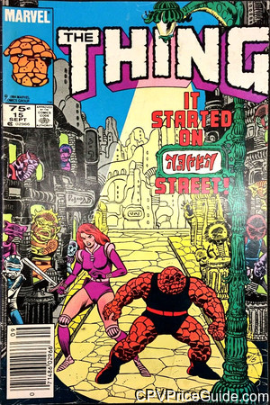 Thing #15 75¢ Canadian Price Variant Comic Book Picture