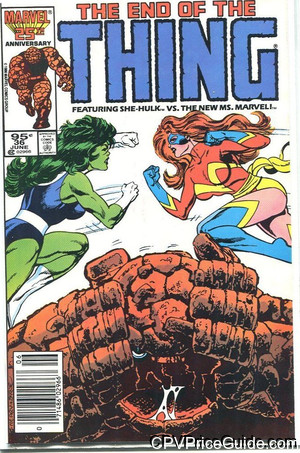 Thing #36 95¢ Canadian Price Variant Comic Book Picture
