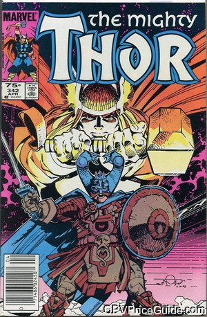 Thor #342 75¢ Canadian Price Variant Comic Book Picture