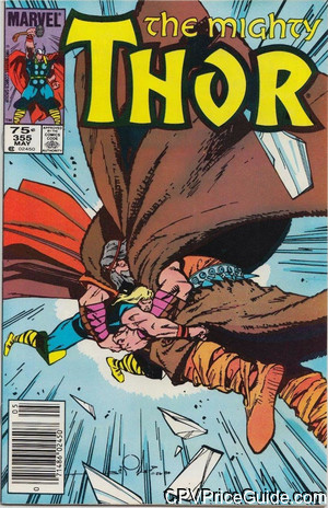 Thor #355 75¢ Canadian Price Variant Comic Book Picture