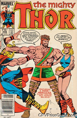 Thor #356 75¢ Canadian Price Variant Comic Book Picture