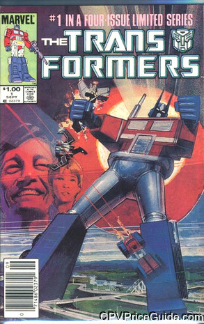 Transformers #1 $1.00 Canadian Price Variant Comic Book Picture
