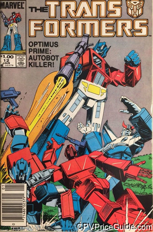 Transformers #12 $1.00 Canadian Price Variant Comic Book Picture