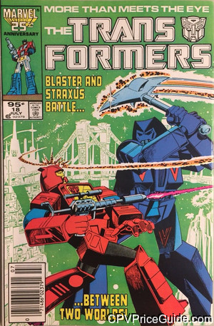 Transformers #18 95¢ Canadian Price Variant Comic Book Picture
