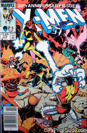 Uncanny X-Men #175 $1.25 Canadian Price Variant Comic Book Picture