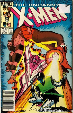 Uncanny X-Men #194 75¢ Canadian Price Variant Comic Book Picture