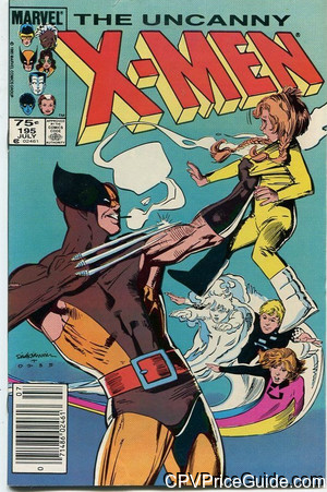 Uncanny X-Men #195 75¢ Canadian Price Variant Comic Book Picture