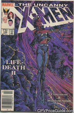 Uncanny X-Men #198 75¢ Canadian Price Variant Comic Book Picture