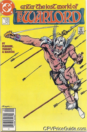 Warlord #121 $1.00 Canadian Price Variant Comic Book Picture