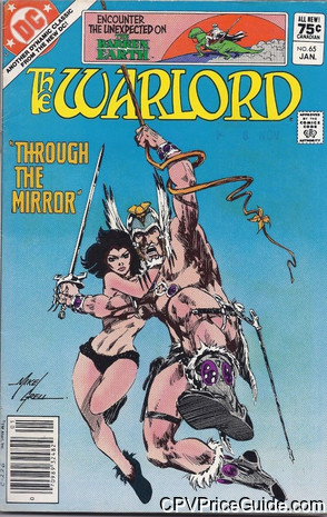 Warlord #65 75¢ Canadian Price Variant Comic Book Picture