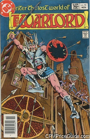 Warlord #75 75¢ Canadian Price Variant Comic Book Picture