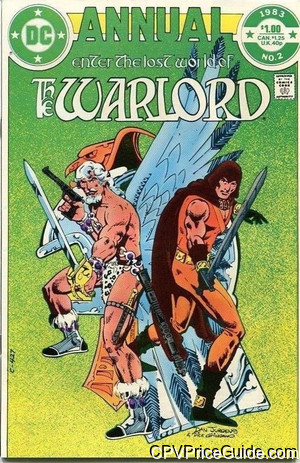 Warlord Annual #2 $1.25 Canadian Price Variant Comic Book Picture
